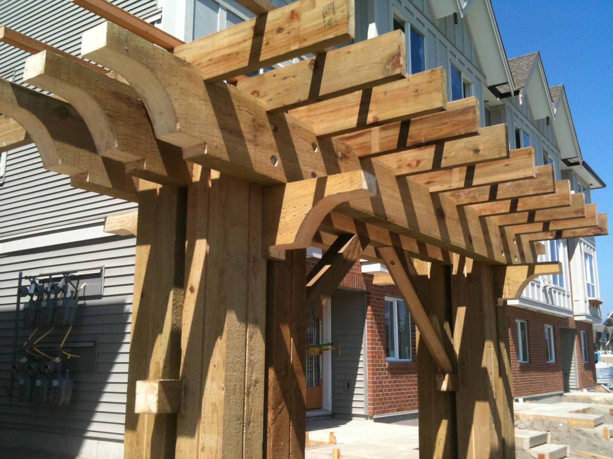 Red Cedar Pergola - Cedar for Building Materials