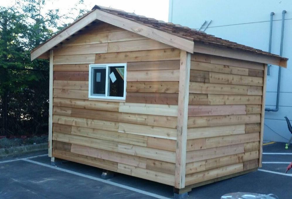 Cedar Shed Installation with window