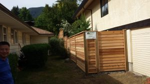 Custom Cedar Fence Installation