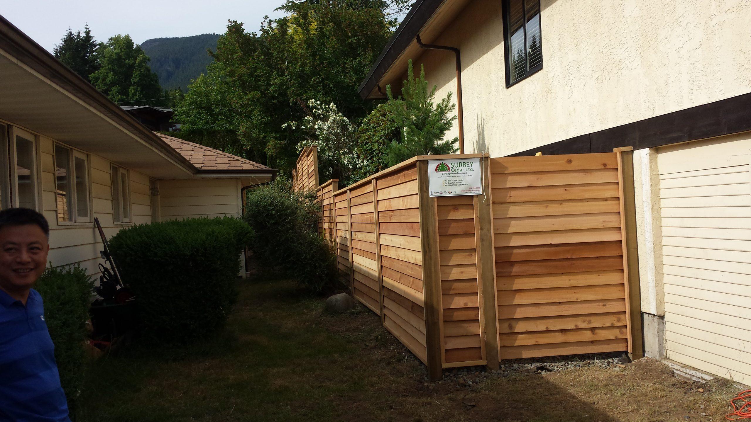 Custom Cedar Fence Installation