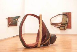 Stained Cedar Scrap Wood Sculpture